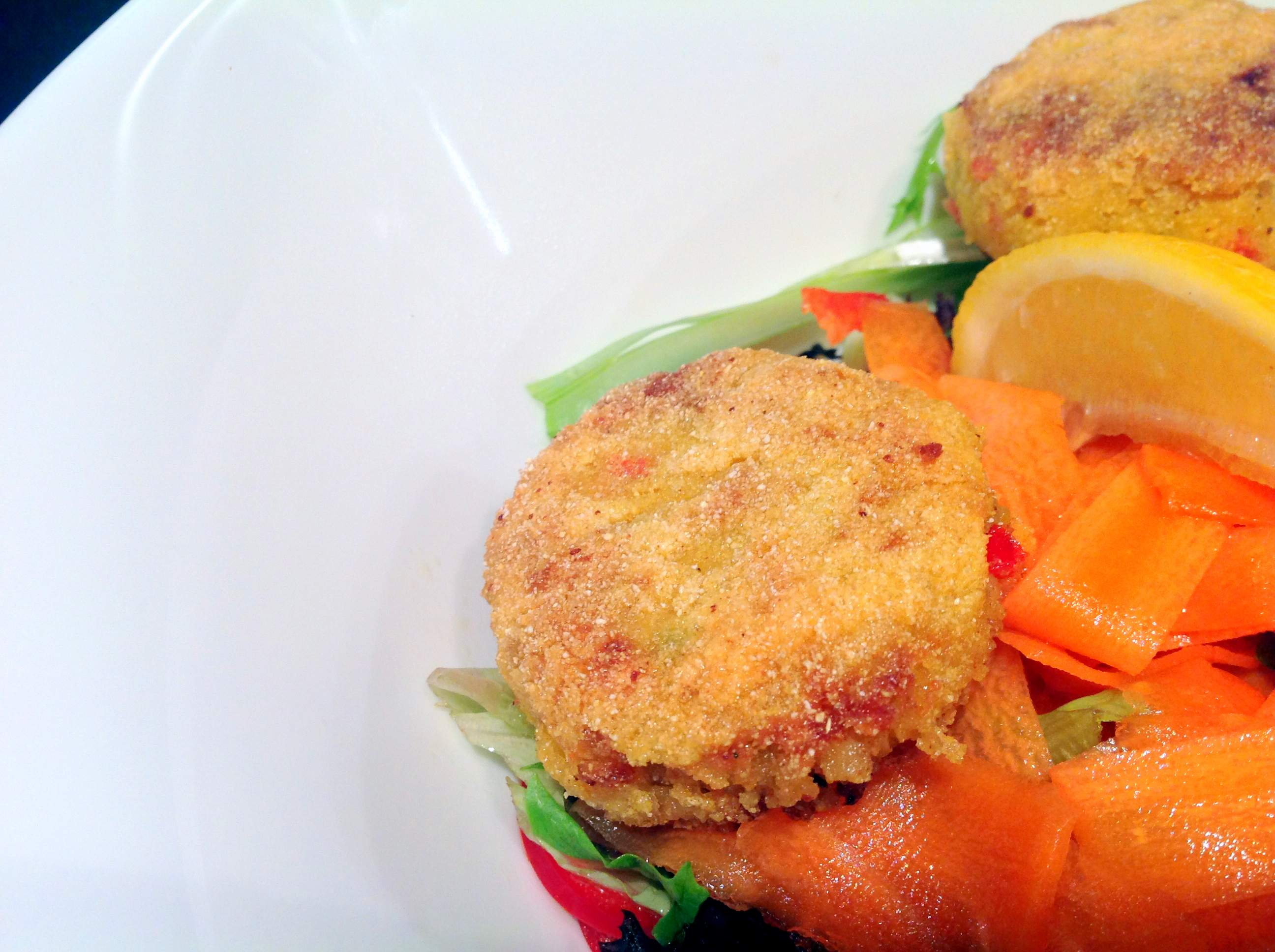 Spicy Chickpea Cakes with Pickled Carrot