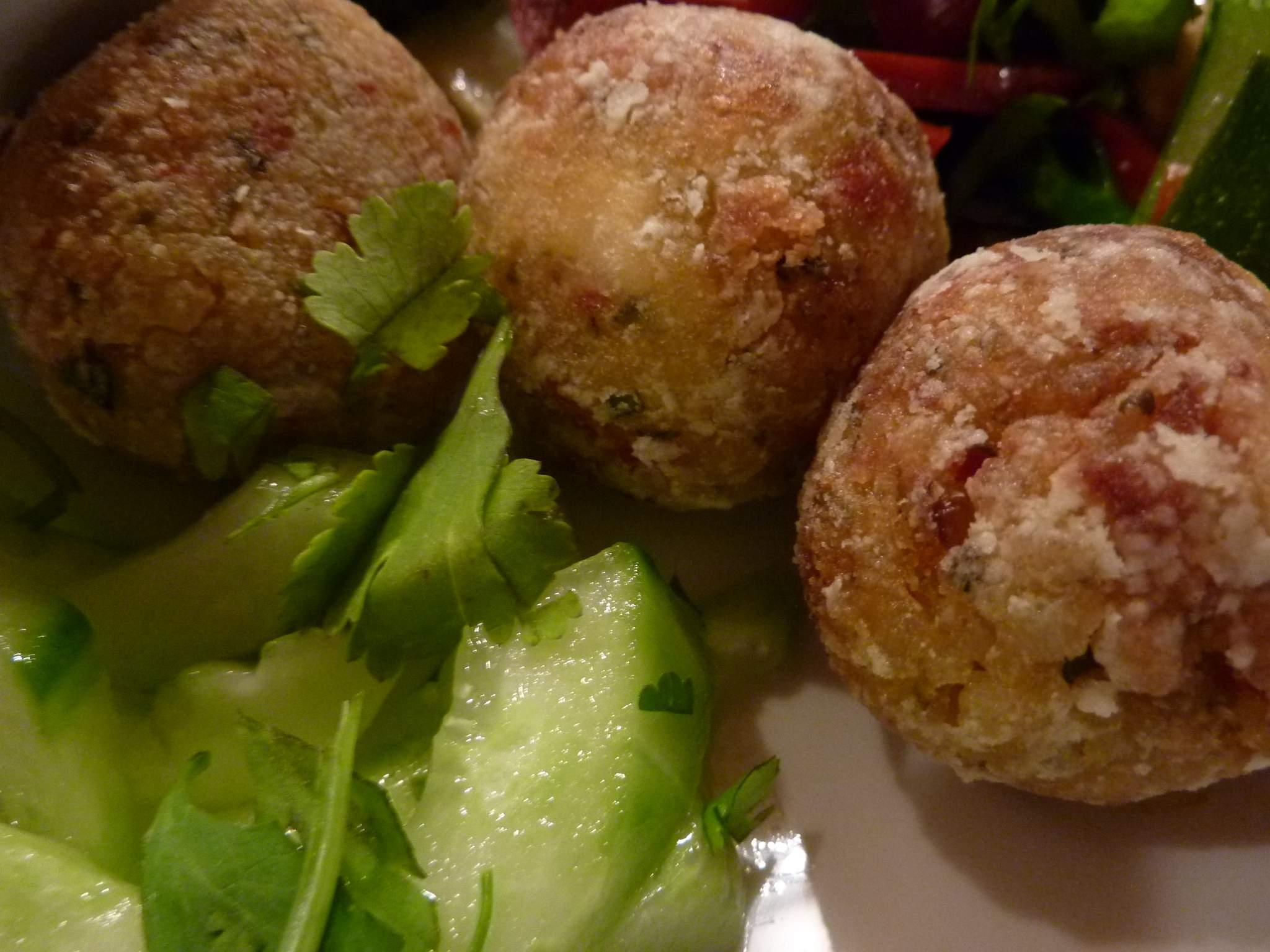 Coconut Rice Balls with Satay Sauce