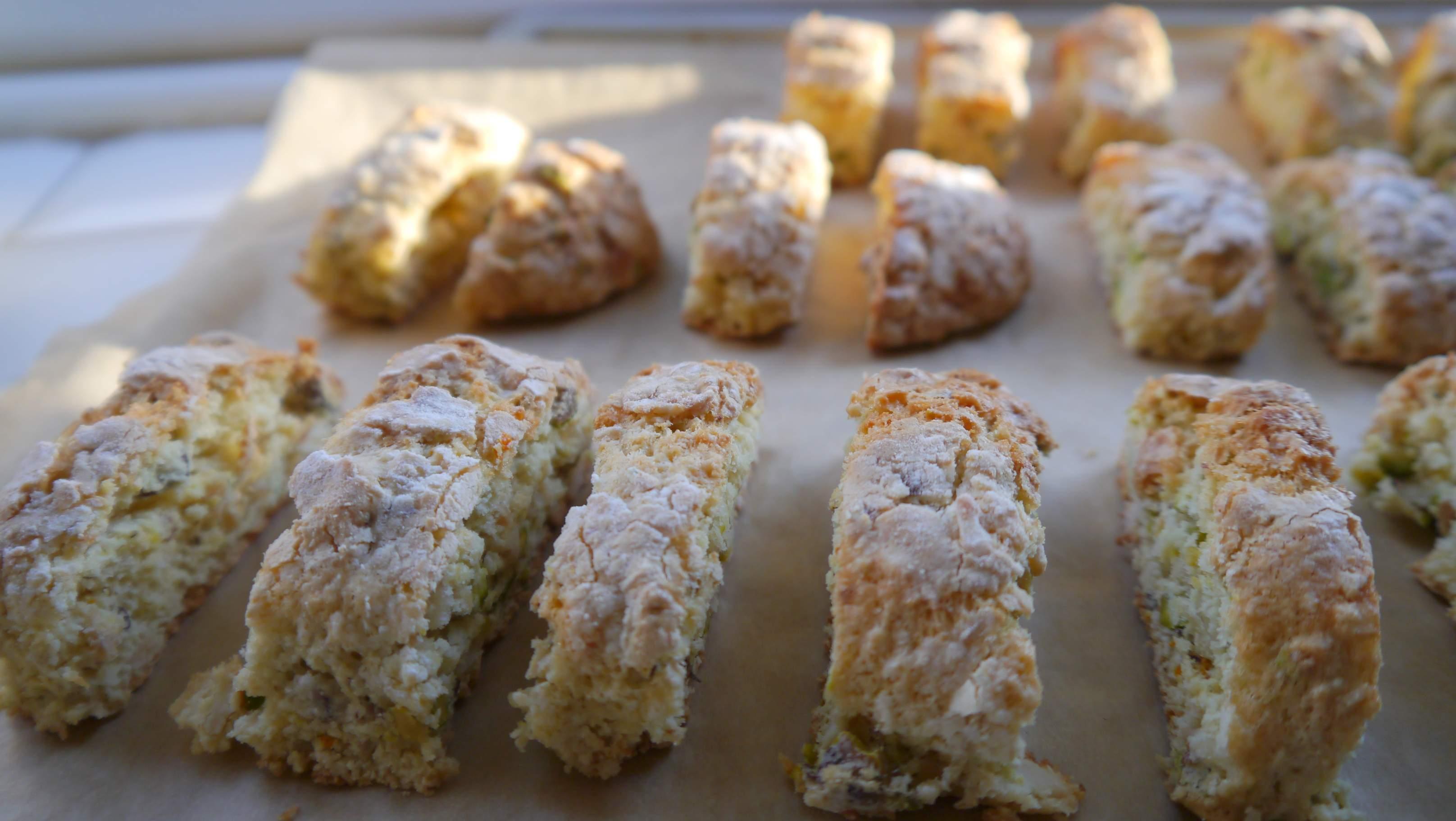 Almond and Pistachio Biscotti