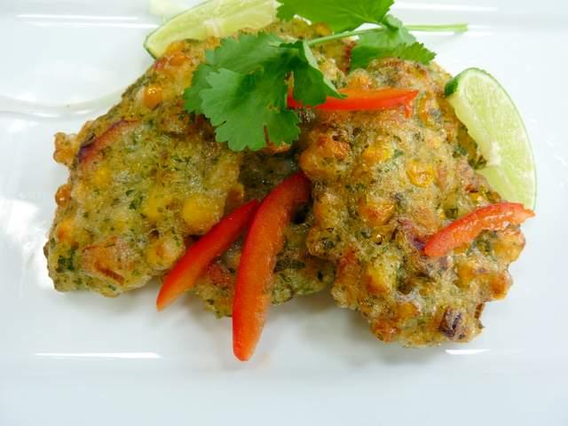 Crispy Thai Sweetcorn Cakes